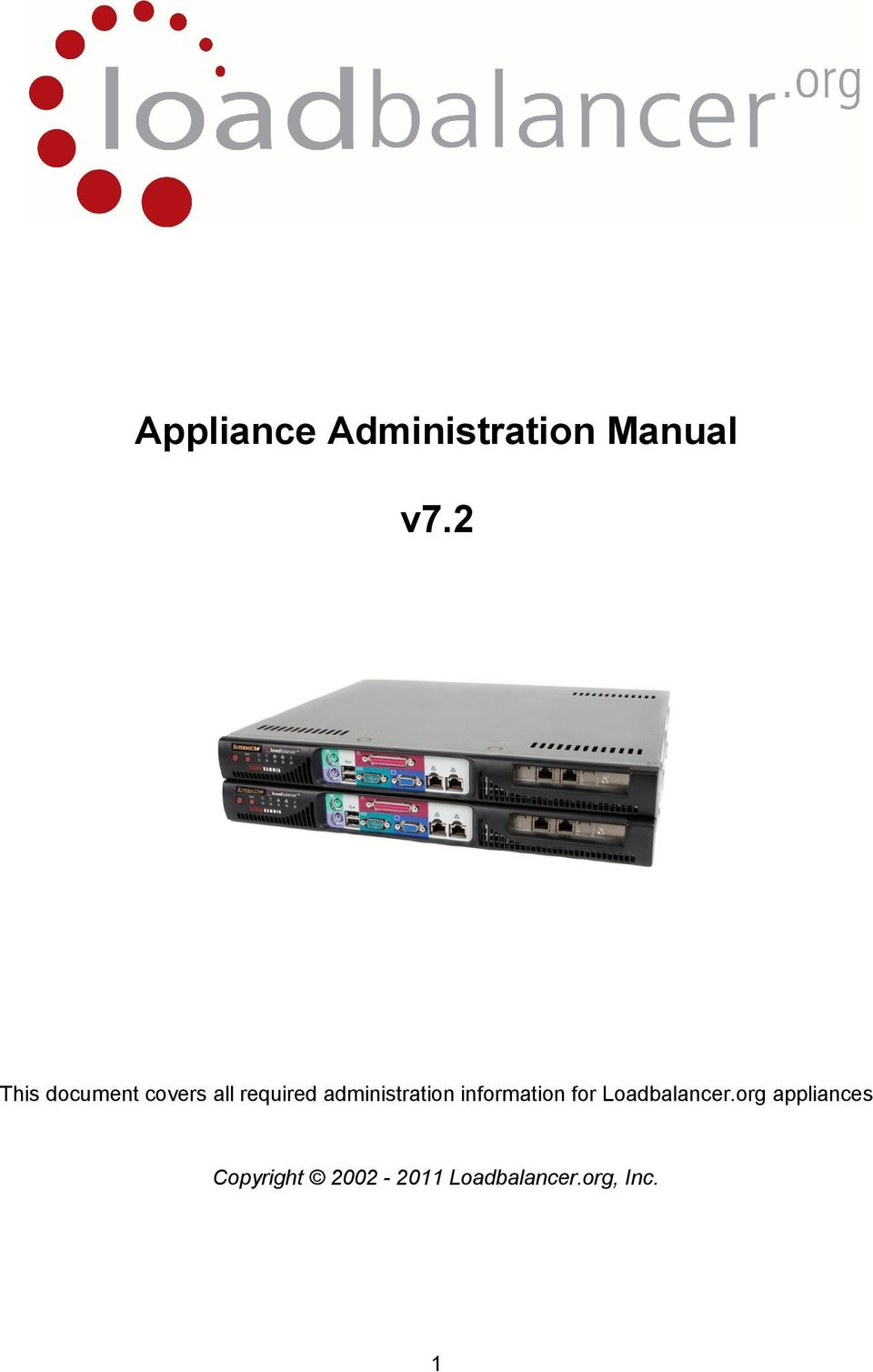 administration information for Loadbalancer.
