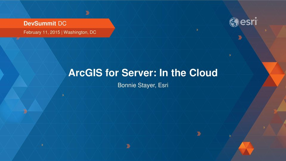 ArcGIS for Server: In