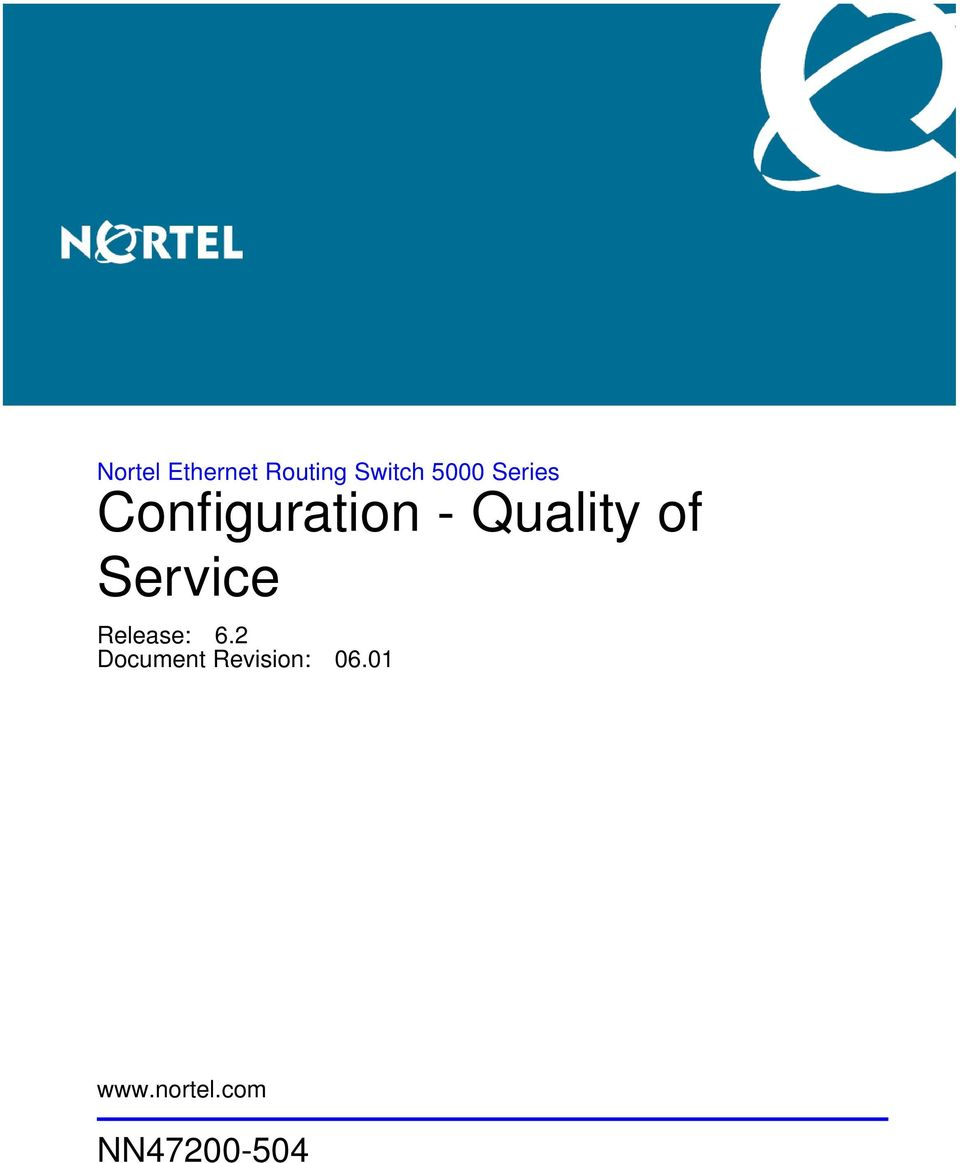 Nortel Ethernet Routing Switch 5000 Series Configuration - Quality ...
