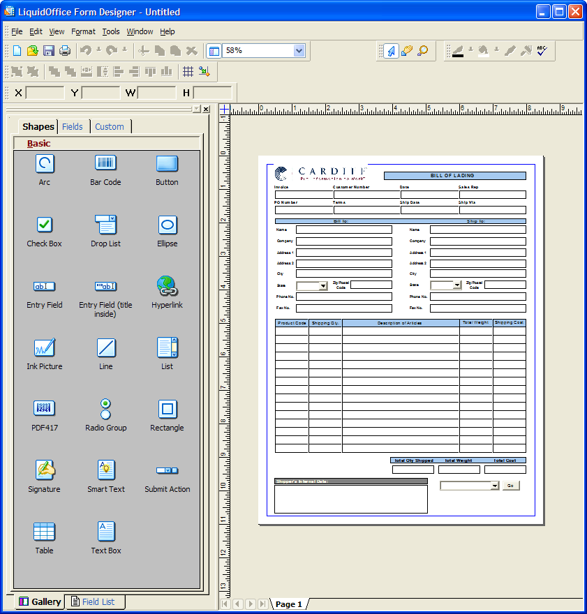 LiquidOffice Form Designer LiquidOffice Form Designer is used by form designers to create forms and publish them to the LiquidOffice Server.