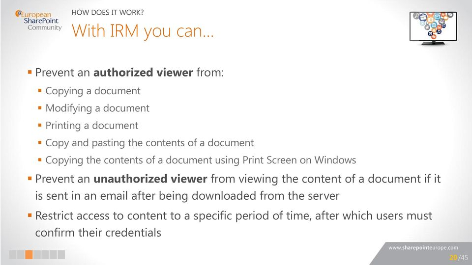contents of a document Copying the contents of a document using Print Screen on Windows Prevent an unauthorized viewer