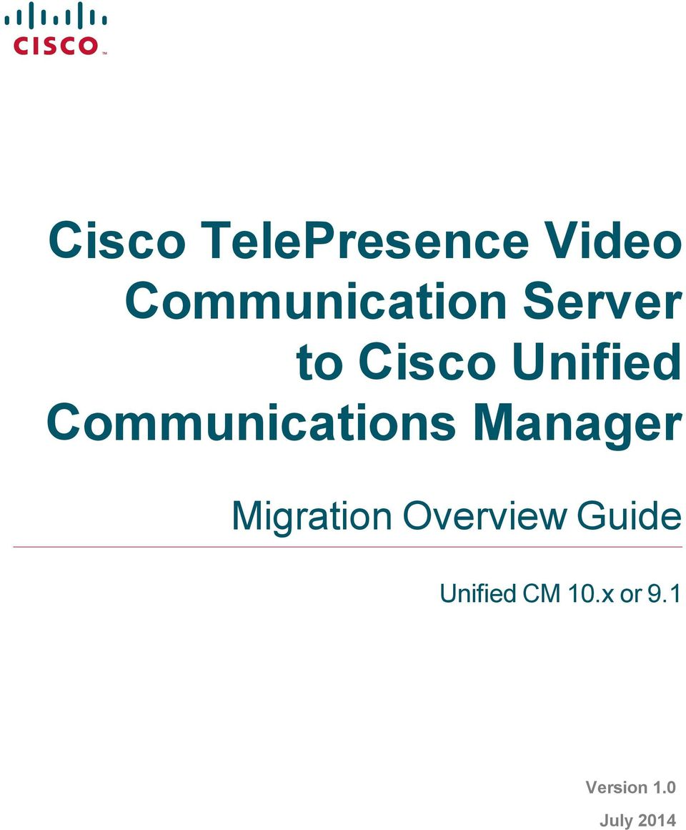 Manager Migration Overview Guide