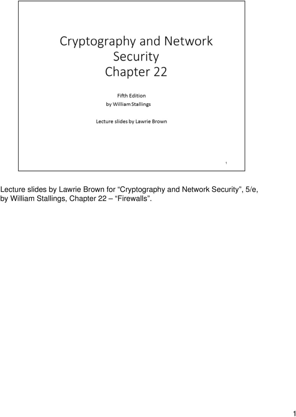 Network Security, 5/e, by