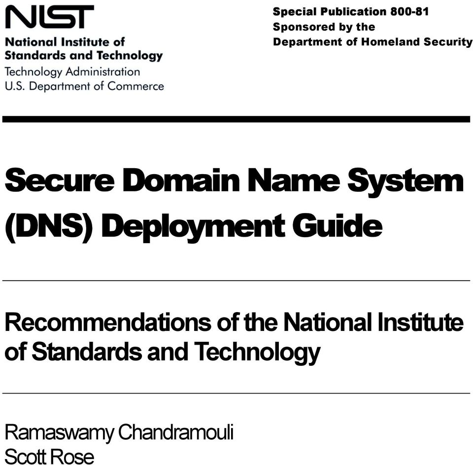 Deployment Guide Recommendations of the National