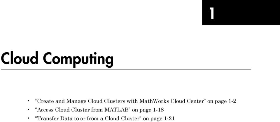 1-2 Access Cloud Cluster from MATLAB on page