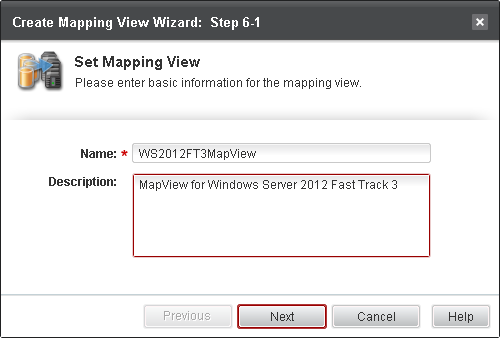 Step 2 On the Mapping View page, click Create button; Step 3 On the Set Mapping View page of Create Mapping View Wizard, input mapping view name and description, click