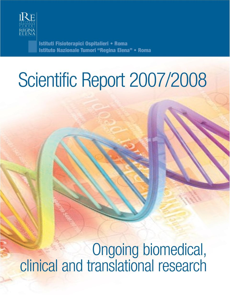 Roma Scientific Report 2007/2008 Ongoing