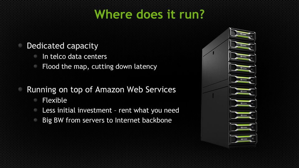 cutting down latency Running on top of Amazon Web