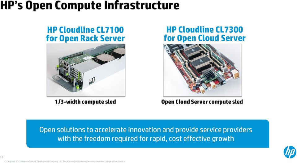 Server compute sled Open solutions to accelerate innovation and provide