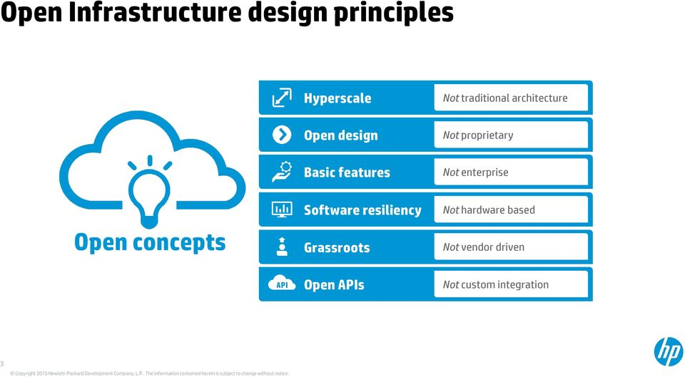 features Not enterprise Open concepts Software resiliency