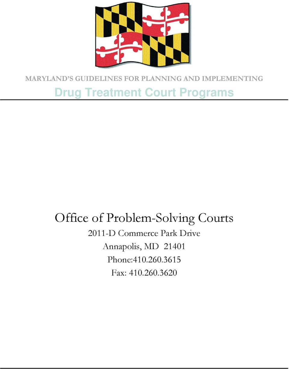 of Problem-Solving Courts 2011-D Commerce Park