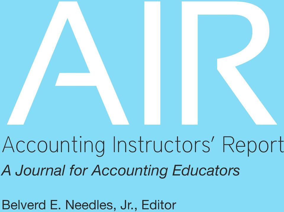 Accounting Educators