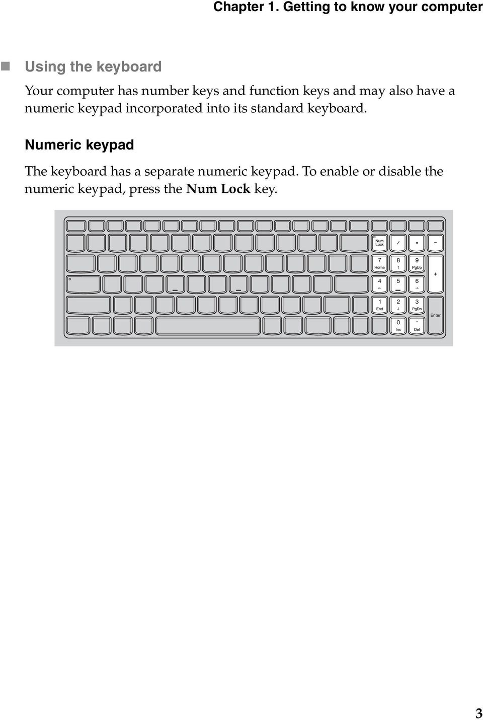 keys and function keys and may also have a numeric keypad incorporated into