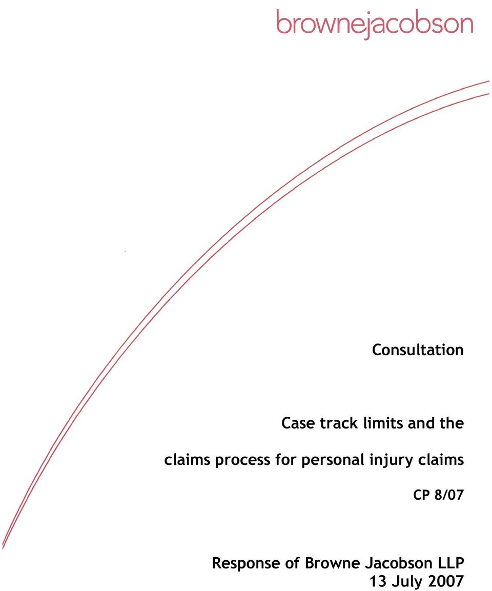 personal injury claims CP 8/07