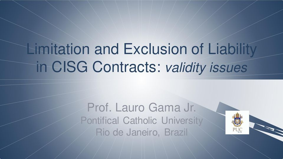 validity issues Prof. Lauro Gama Jr.