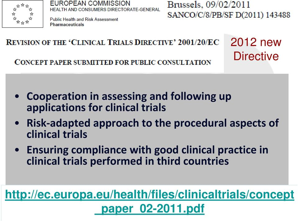 Ensuring compliance with good clinical practice in clinical trials performed in