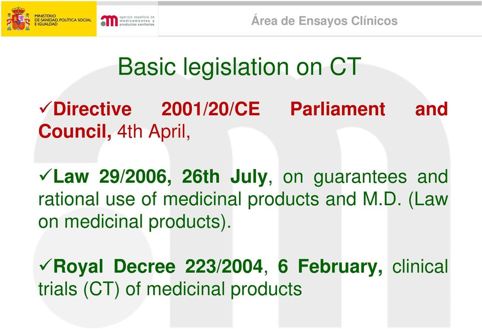 rational use of medicinal products and M.D.