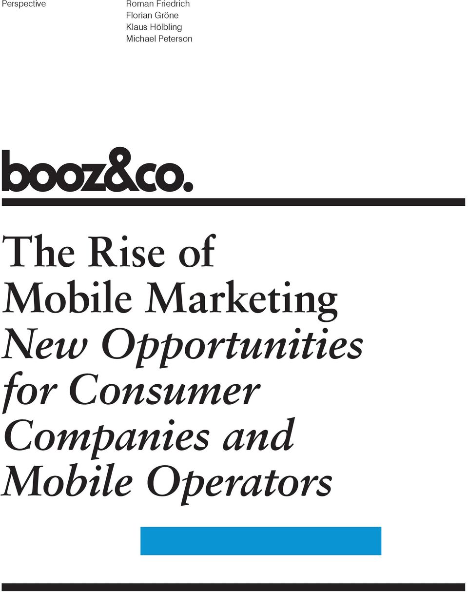 The Rise of Mobile Marketing New