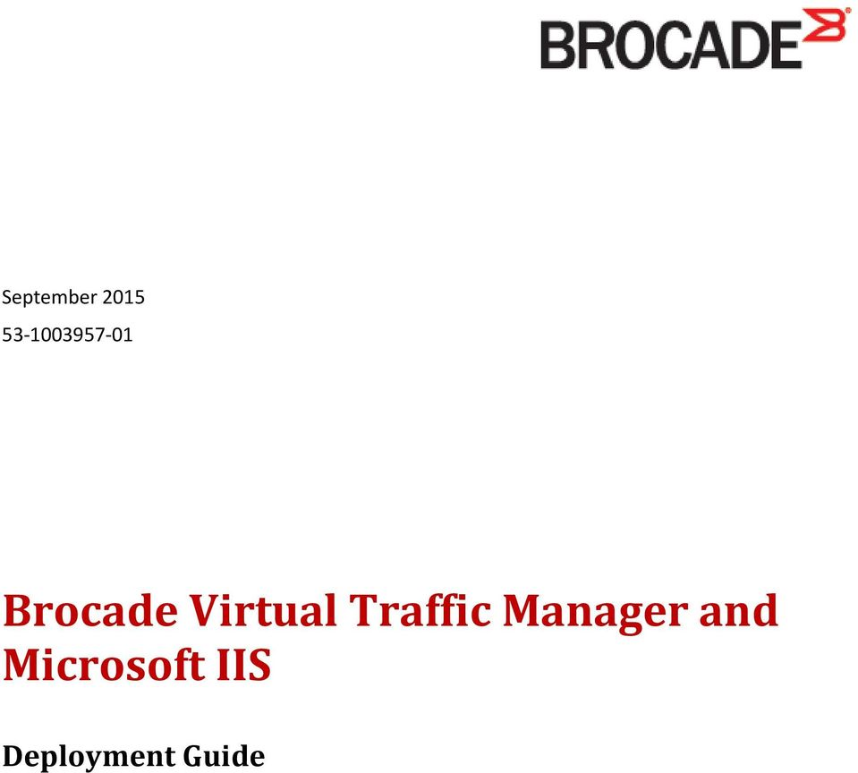 Traffic Manager and
