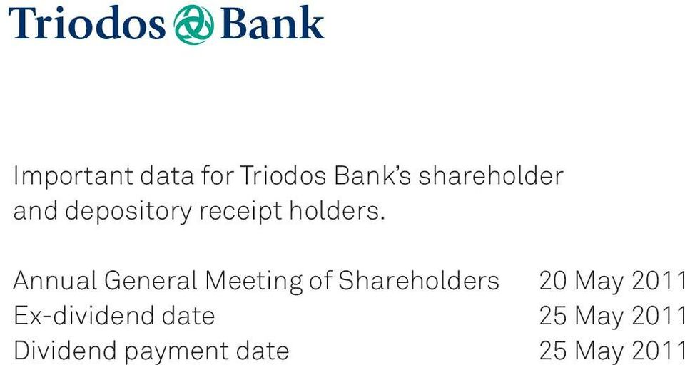 Annual General Meeting of Shareholders 20 May