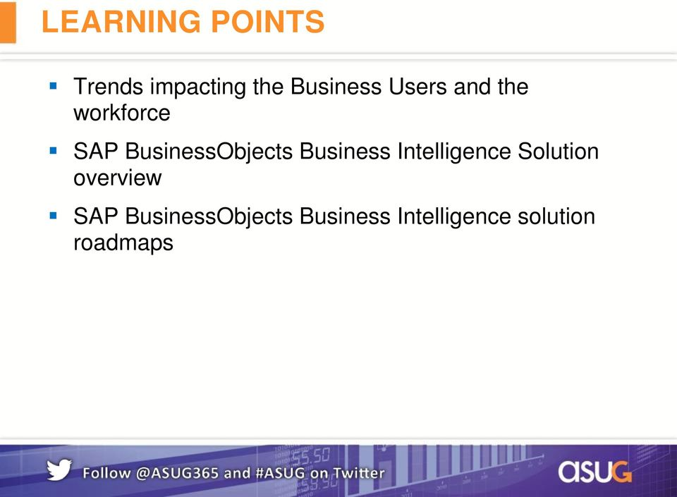 Business Intelligence Solution overview SAP