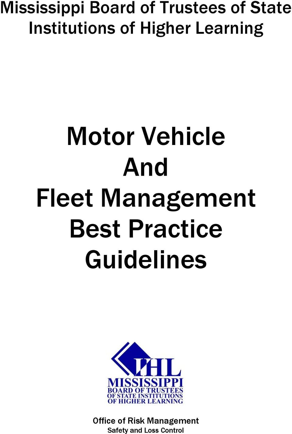 Vehicle And Fleet Management Best Practice