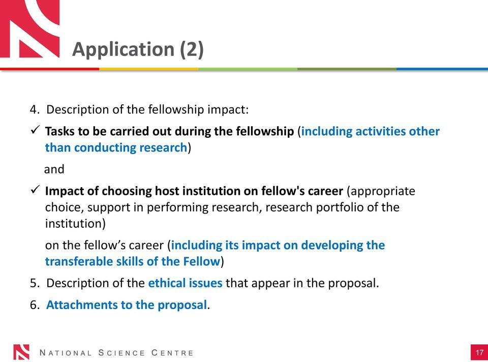 conducting research) and Impact of choosing host institution on fellow's career (appropriate choice, support in performing