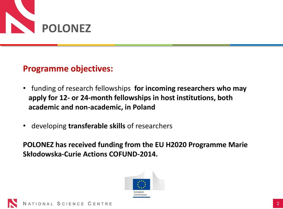 non-academic, in Poland developing transferable skills of researchers POLONEZ has