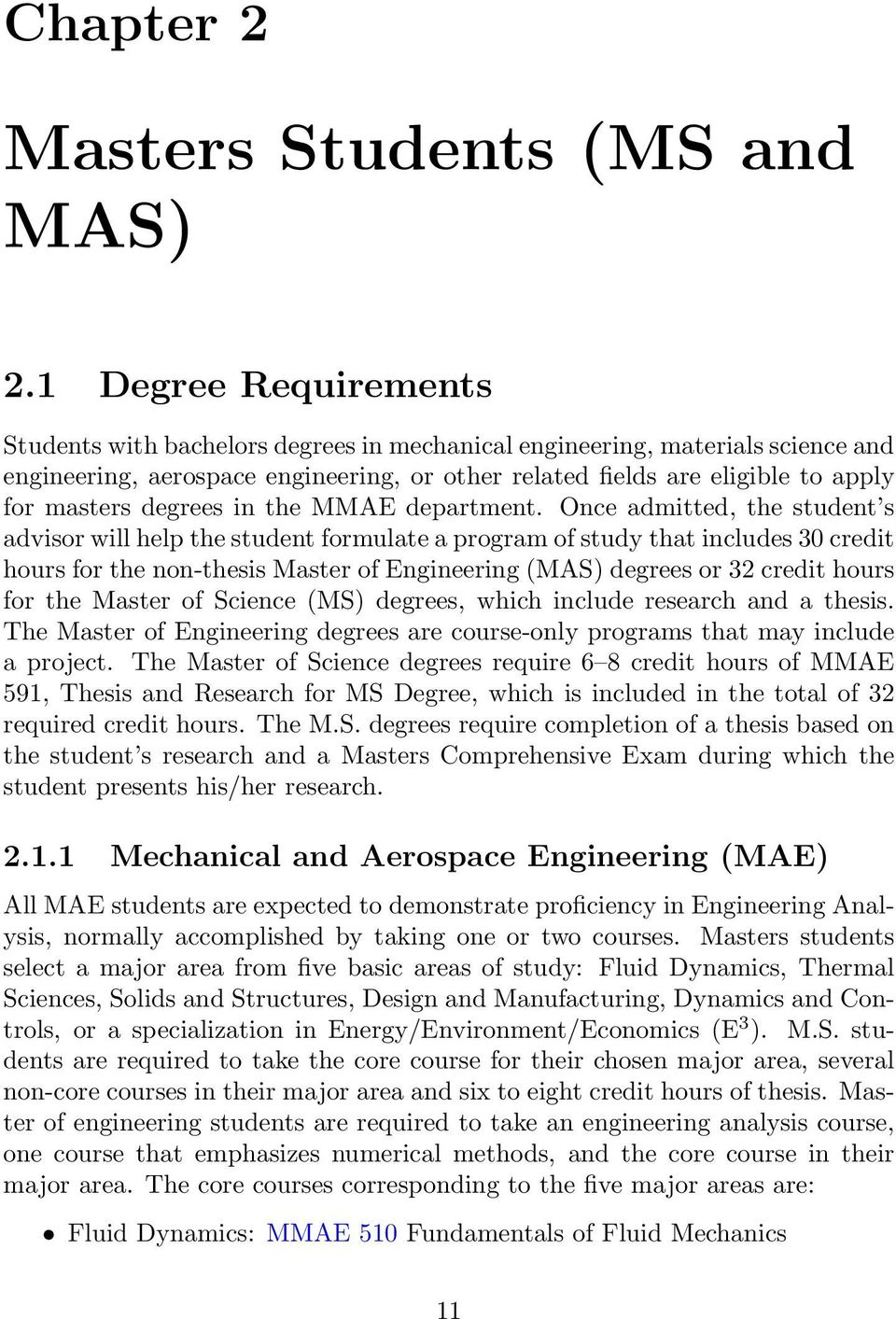 degrees in the MMAE department.