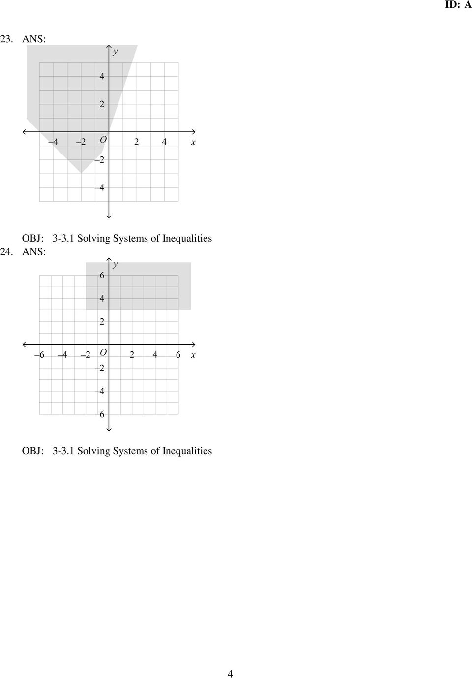 Inequalities 24.