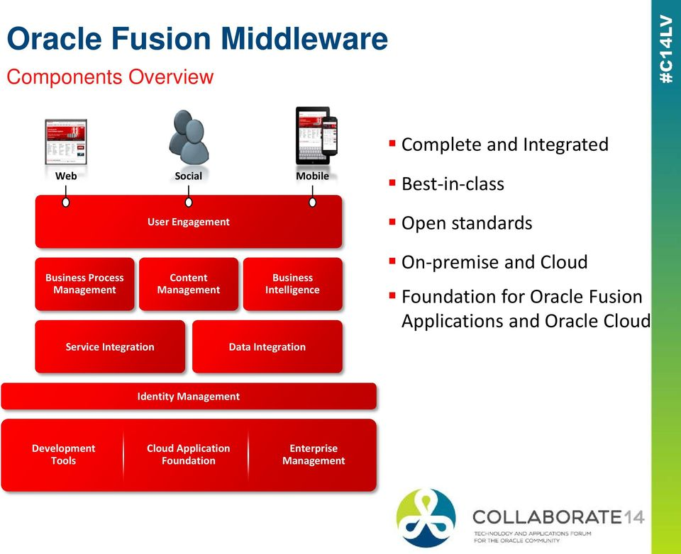 Management Business Intelligence Data Integration On-premise and Cloud Foundation for Oracle Fusion