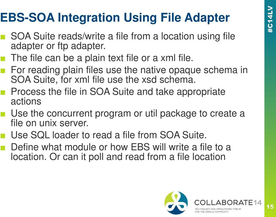 For reading plain files use the native opaque schema in SOA Suite, for xml file use the xsd schema.