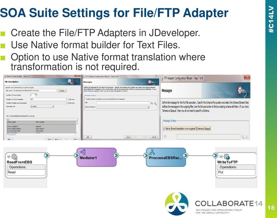 Use Native format builder for Text Files.