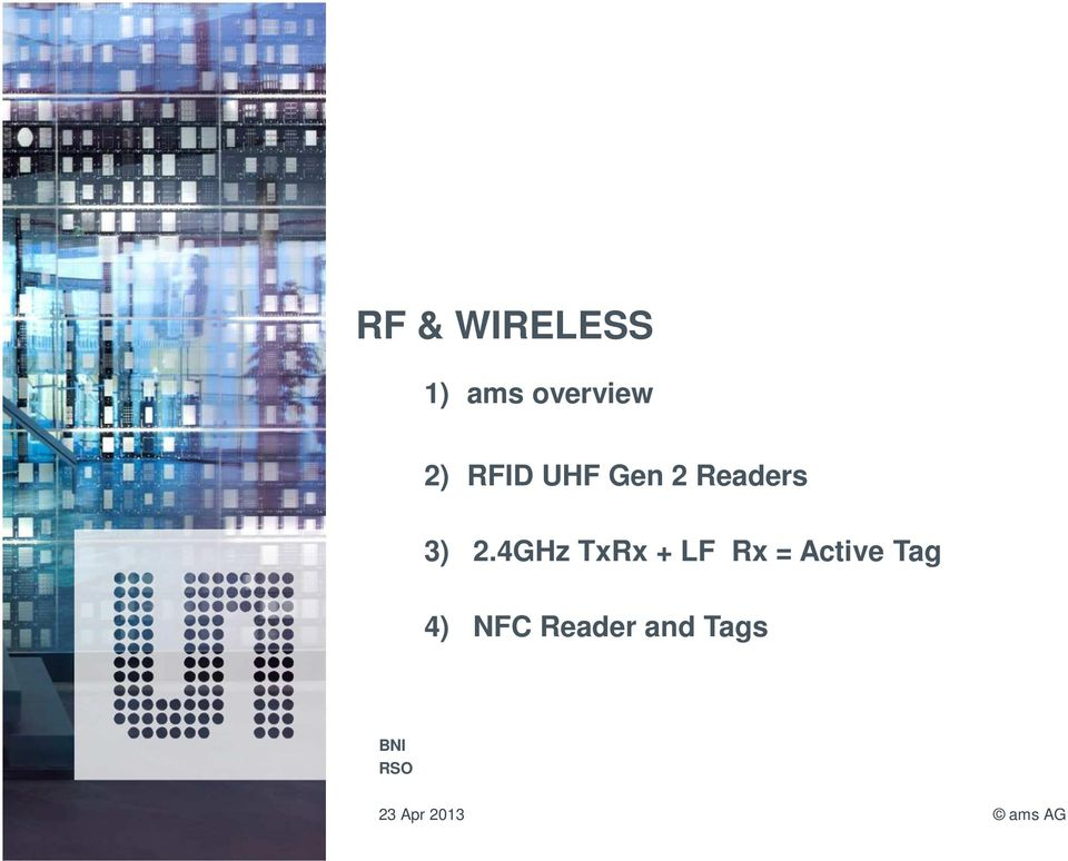 4GHz TxRx + LF Rx = Active Tag 4)