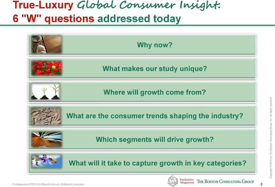 Where will growth come from? What are the consumer trends shaping the industry?
