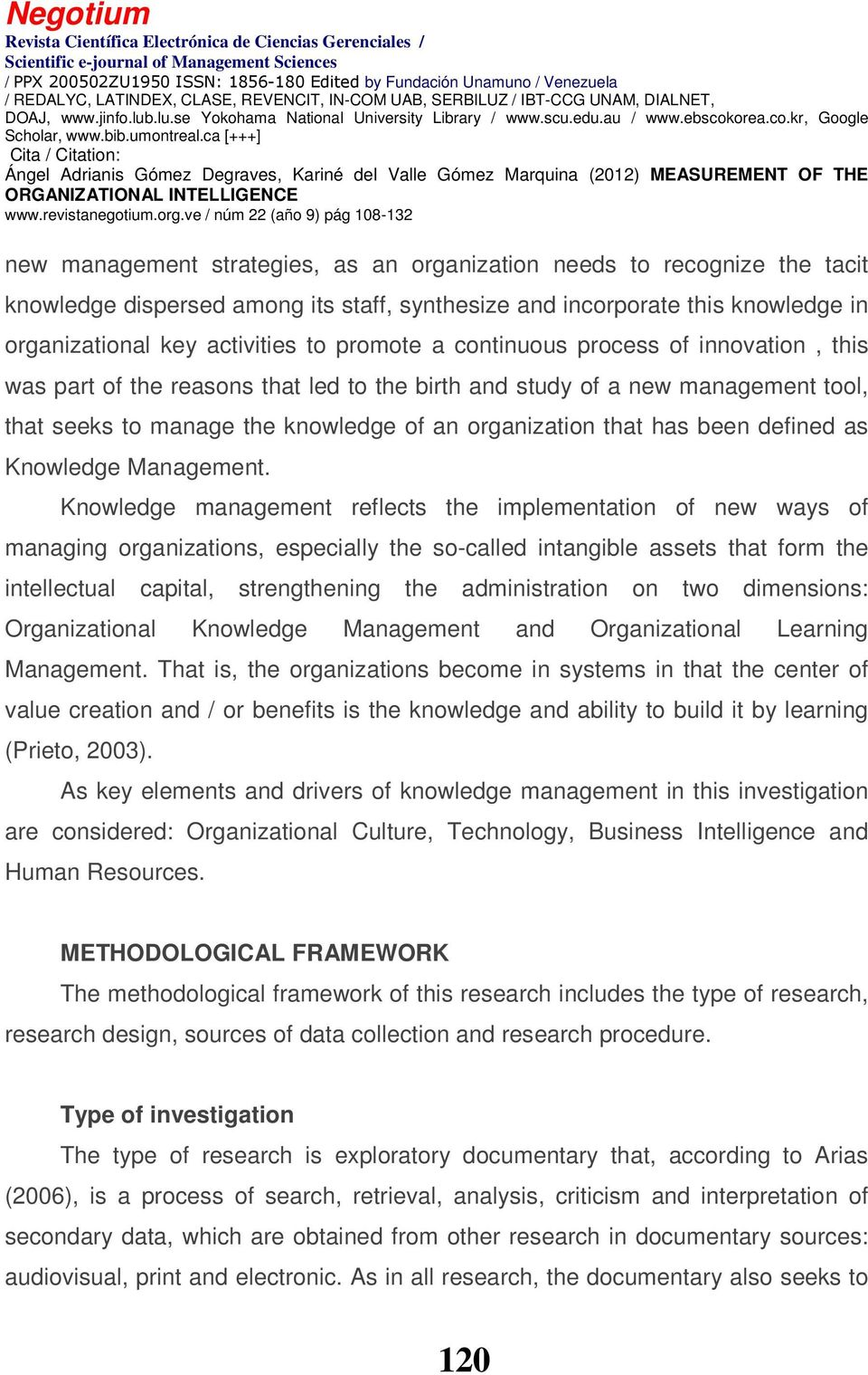 Knowledge Management.
