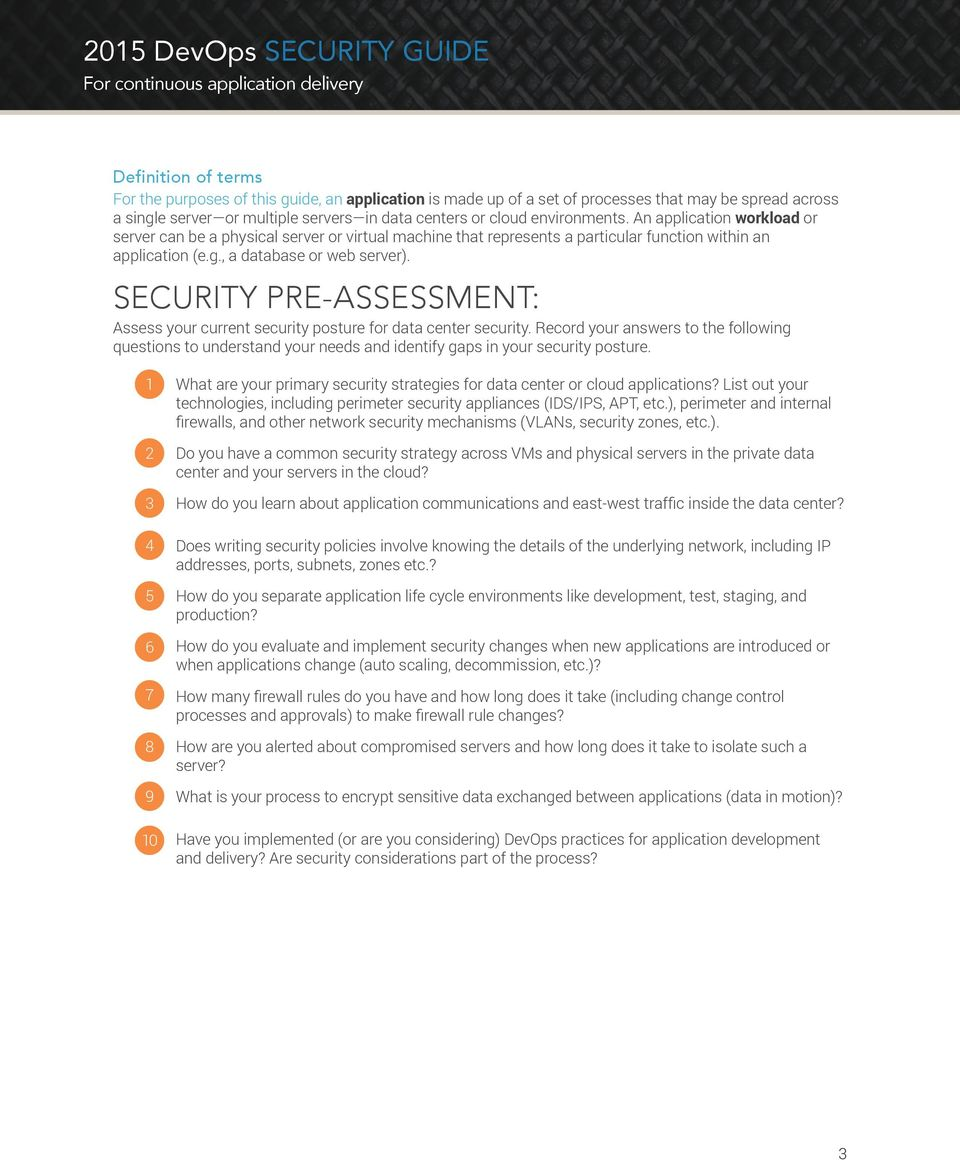 SECURITY PRE-ASSESSMENT: Assess your current security posture for data center security.