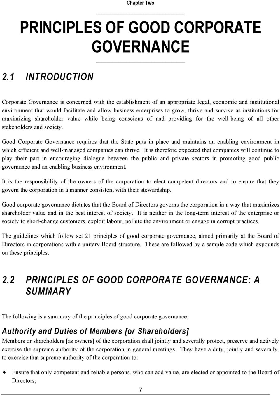 The Importance of Effective Corporate Governance