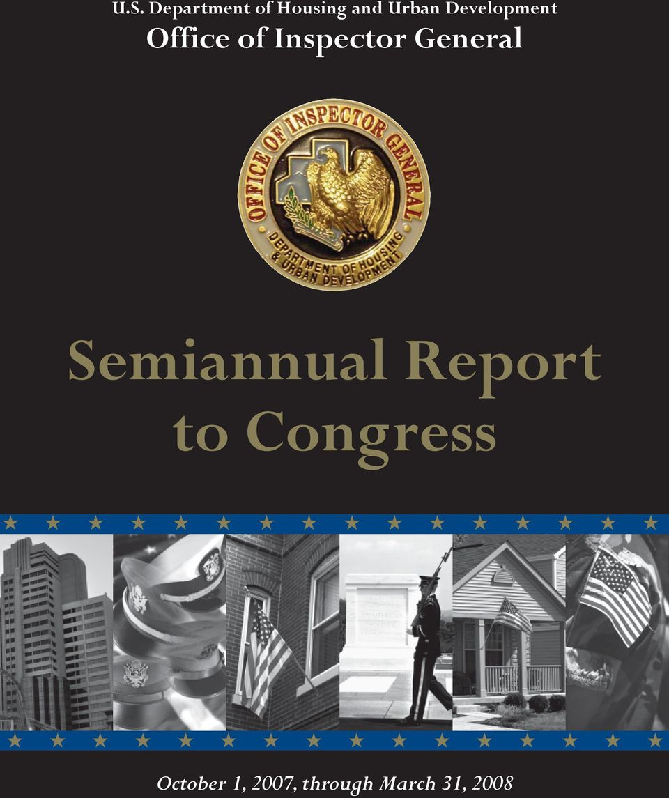 General Semiannual Report to