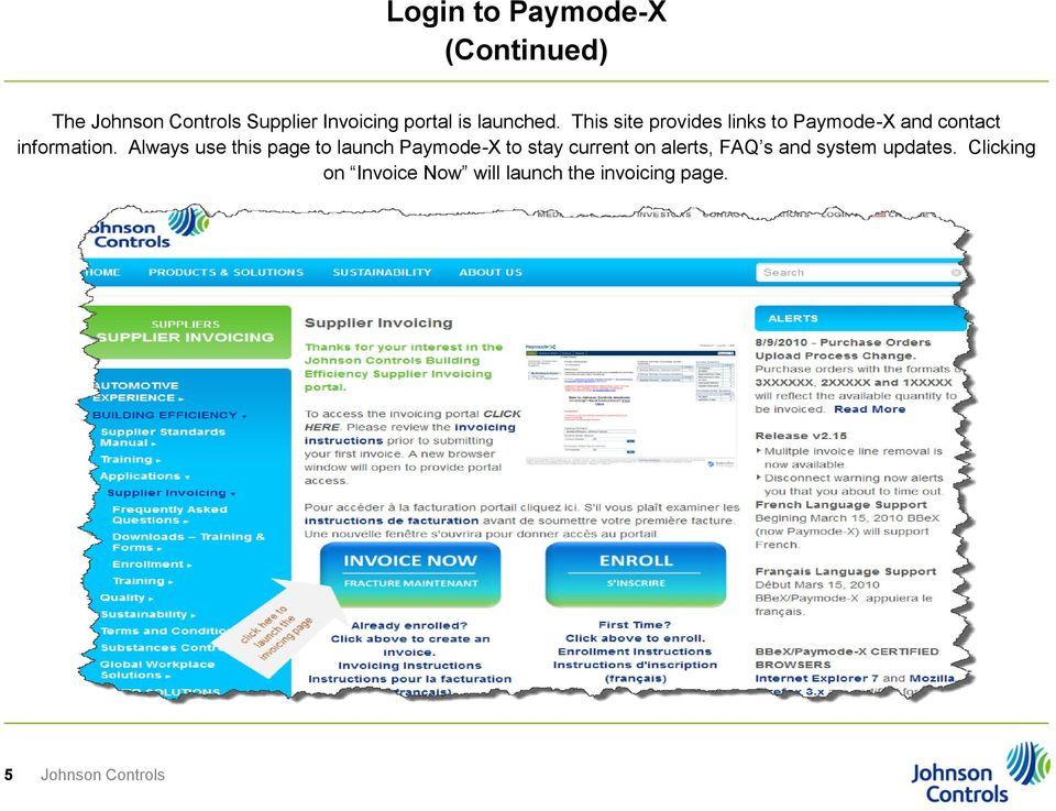 the johnson controls electronic invoice management tool paymode x documentation for isp