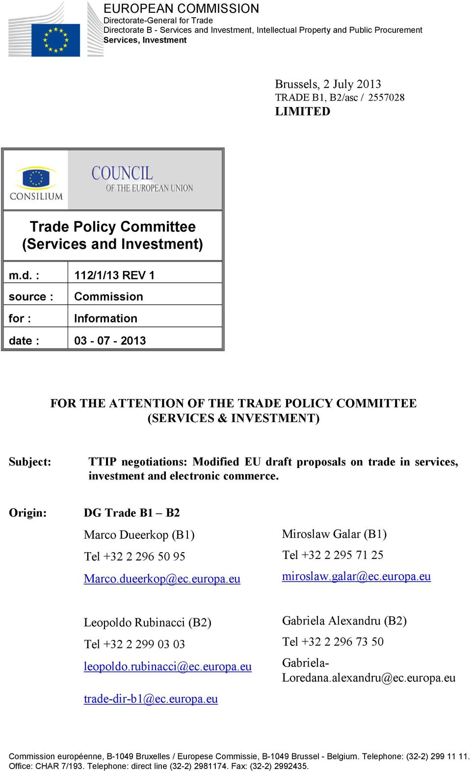 Policy Committee (Services and