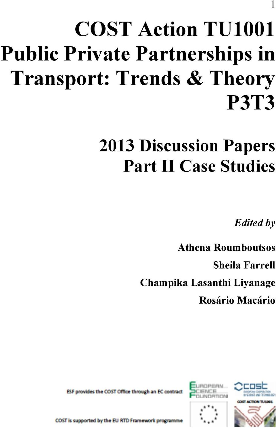 Papers Part II Case Studies Edited by Athena
