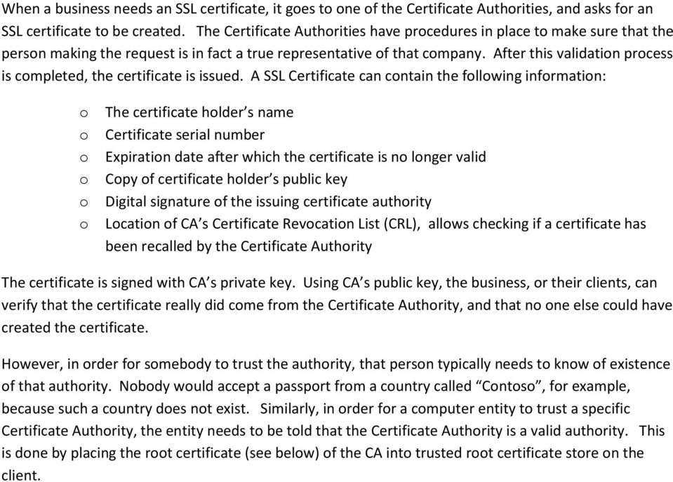 After this validation process is completed, the certificate is issued.