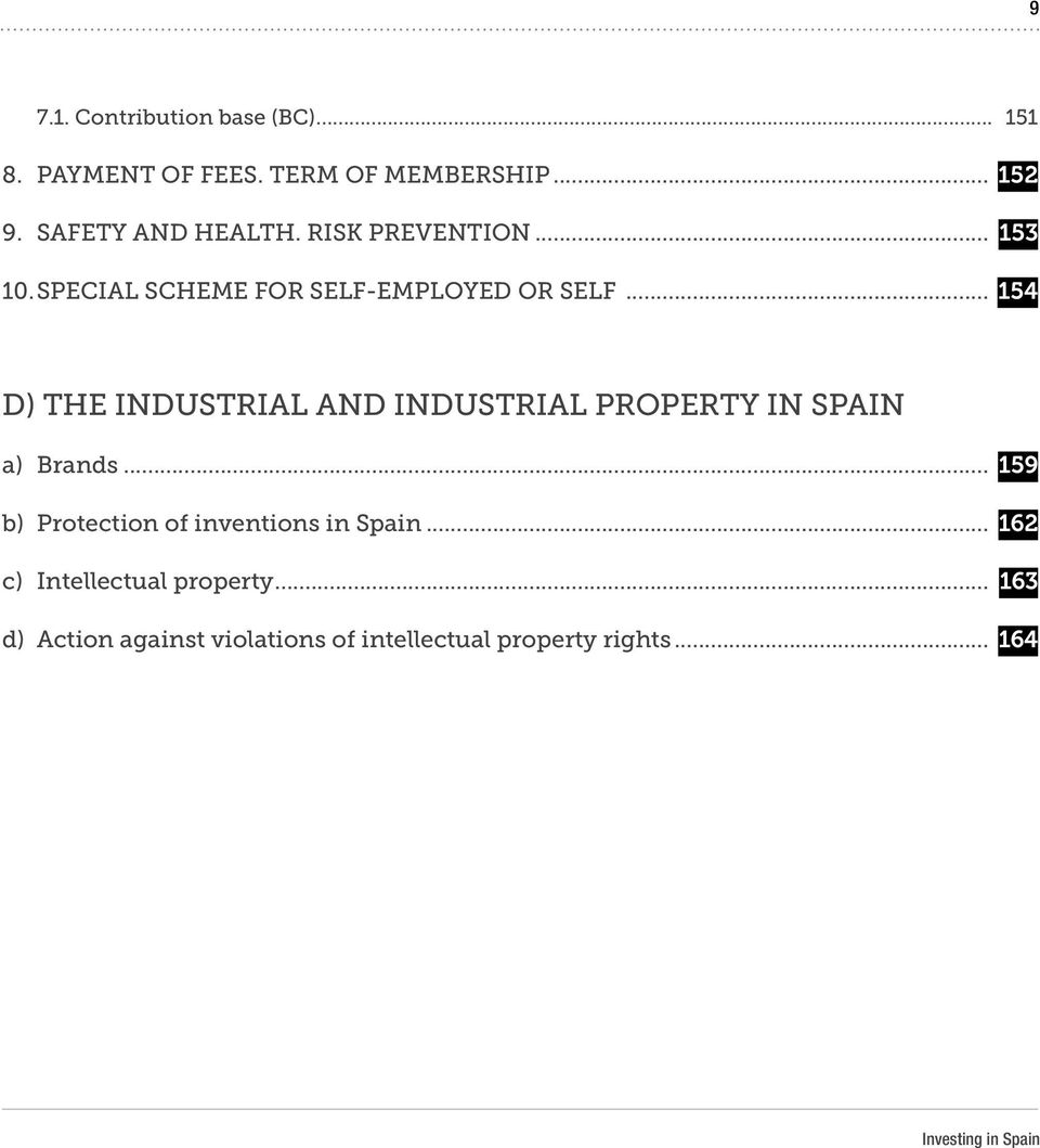 .. 154 D) THE INDUSTRIAL AND INDUSTRIAL PROPERTY IN SPAIN a) Brands.