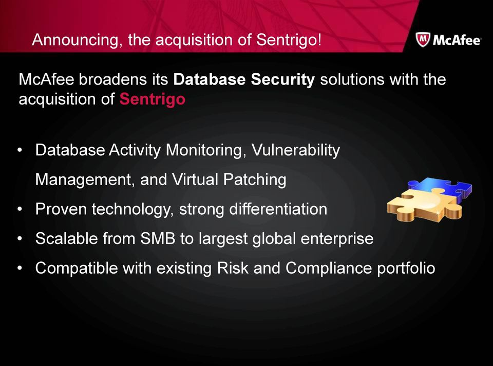 Database Activity Monitoring, Vulnerability Management, and Virtual Patching Proven