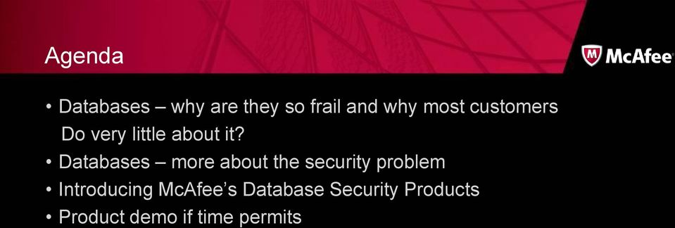 Databases more about the security problem