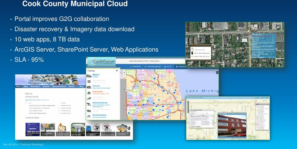 data download 10 web apps, 8 TB data ArcGIS