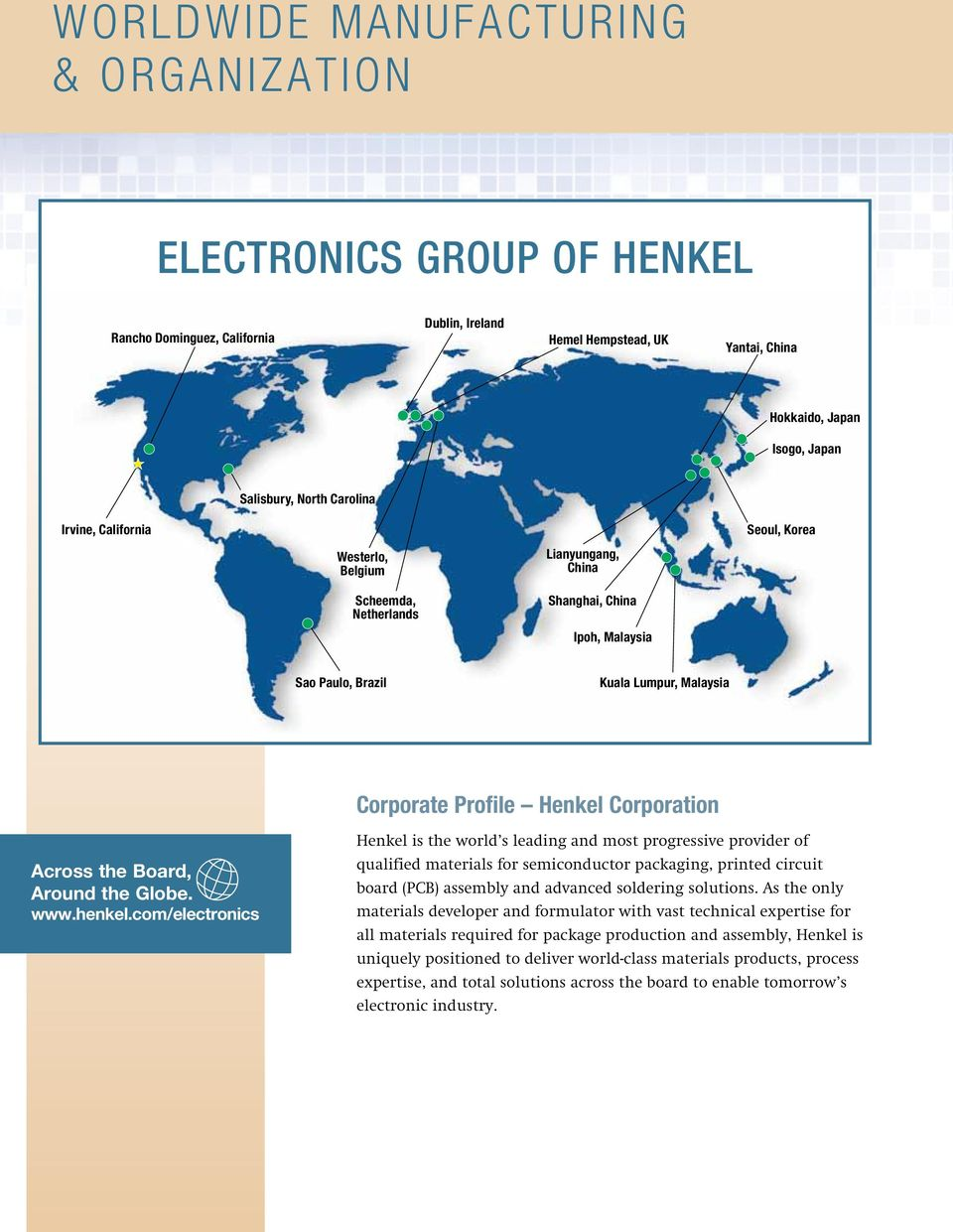 Across The Board Around Globe Americas Europe Asia Pacific Pdf China Flexible Printed Circuit Fpcb Fpc Corporation Henkel