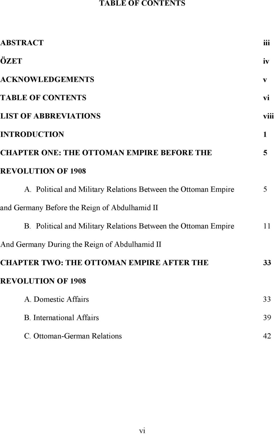 Political and Military Relations Between the Ottoman Empire 5 and Germany Before the Reign of Abdulhamid II B.