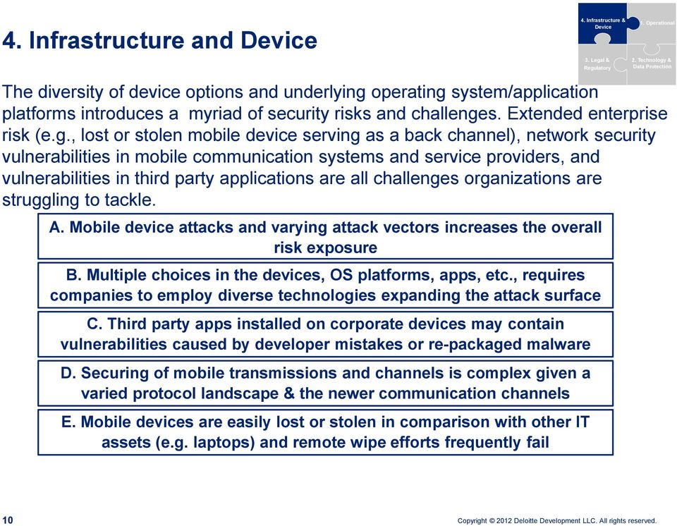 & Data Protection The diversity of device options and underlying